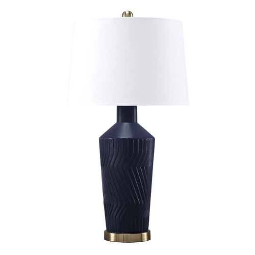 Ashley L100604T CSID Leroi Ceramic Table Lamp Blue
