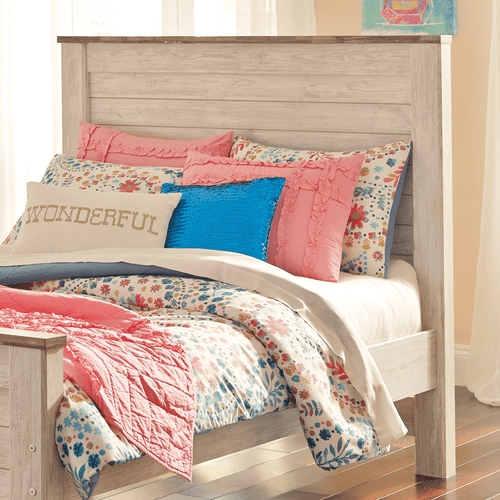 Ashley B267-87 Willowton Full Panel Headboard Whitewash