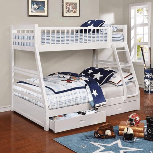 Coaster 460180 Ashton Twin-Full Bunk Bed White