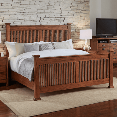 Aamerica MIHHA5040 Mission HIll Queen Slat Bed Harvest