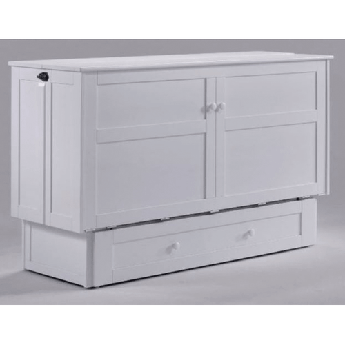 Pacific Manufacturing MUR-CLO-QEN-WHT Clover Murphy Cabinet Bed White