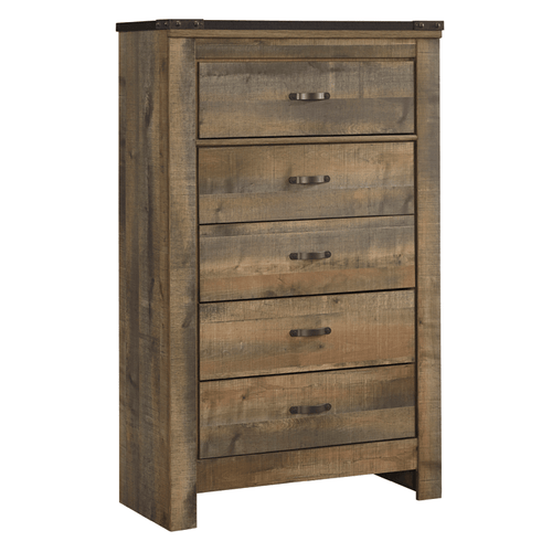 Ashley B446-46 Trinell 5 Drawer Chest Warm Brown