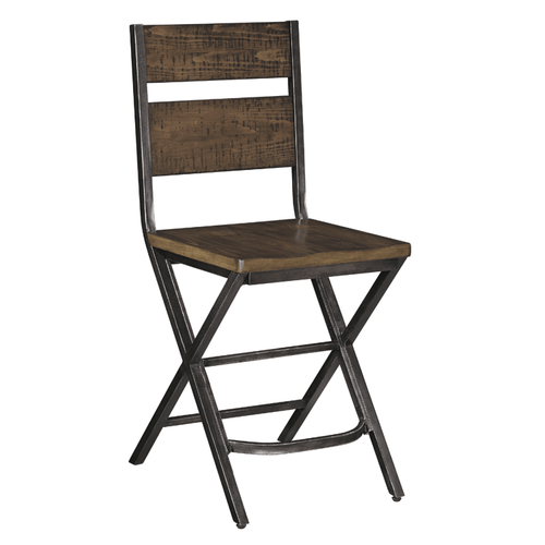 Ashley D469-124 Kavara Counter Height Dining Chair Medium Brown