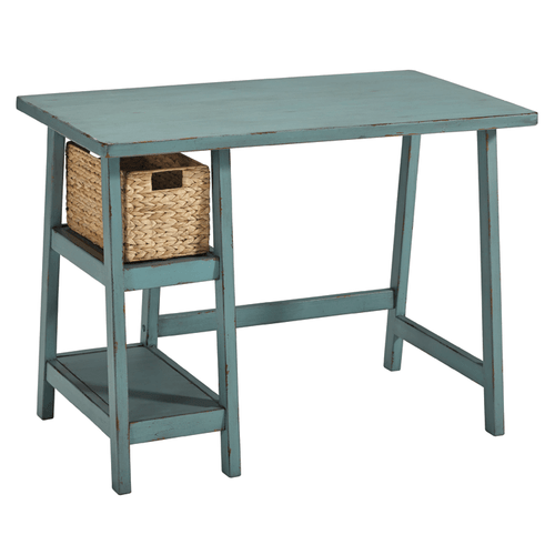 Ashley Furniture H505-710 Mirimyn Small Desk Distressed Teal