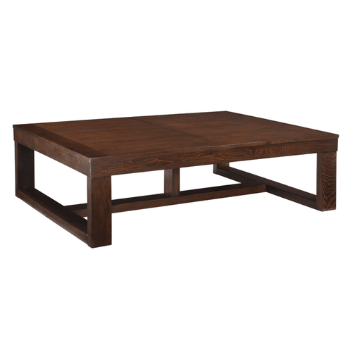 Ashley T481-1 Watson Rectangular Cocktail Table Dark Brown