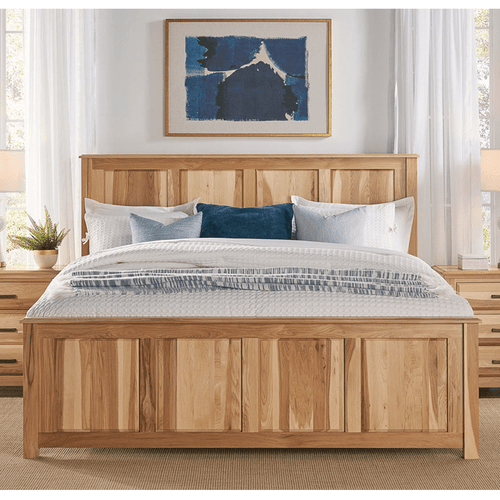 A America CAA-NT-5030 Camas Queen Panel Bed Natural Hickory