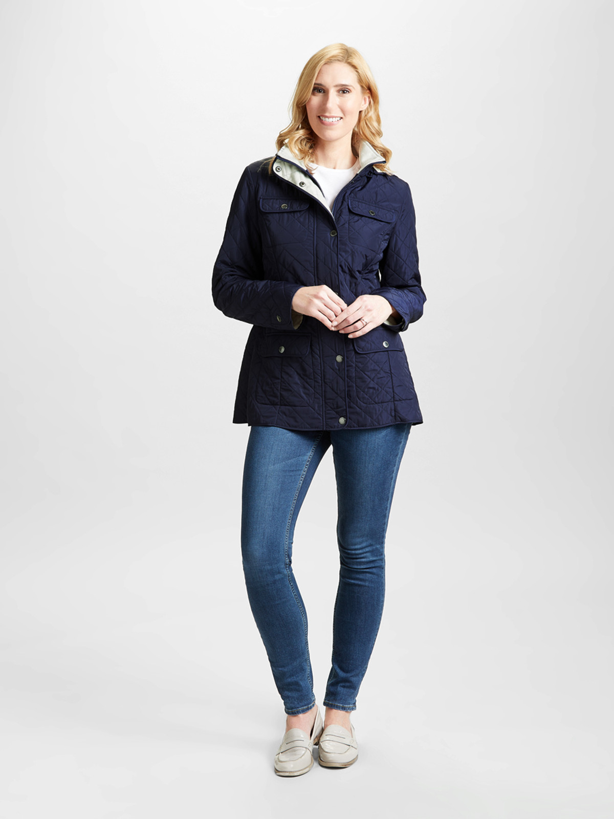 GRAND UNION – Polar Quilted Jacket, Navy