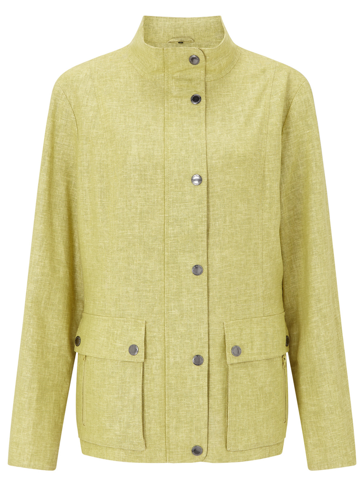 BRIMDOWN – Linen Look Safari Jacket, Citrus