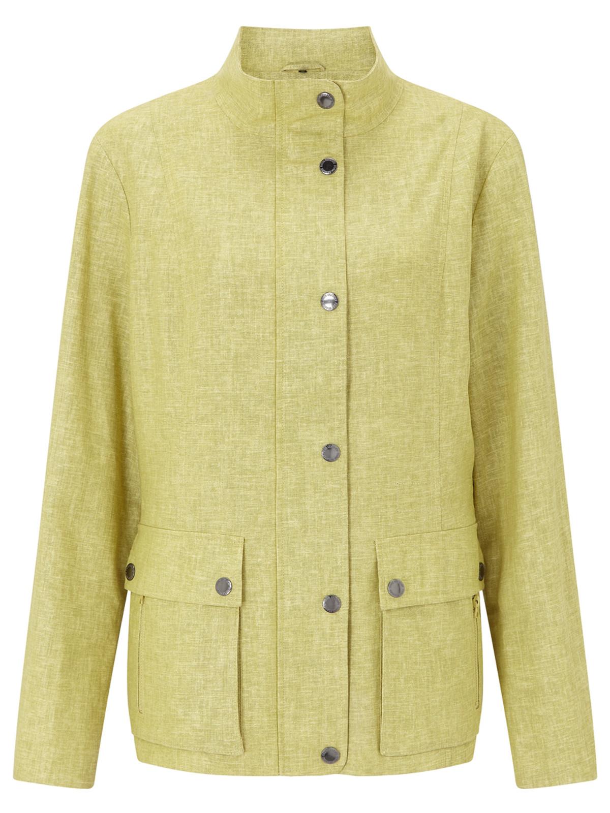 Linen Look Safari Jacket, Citrus