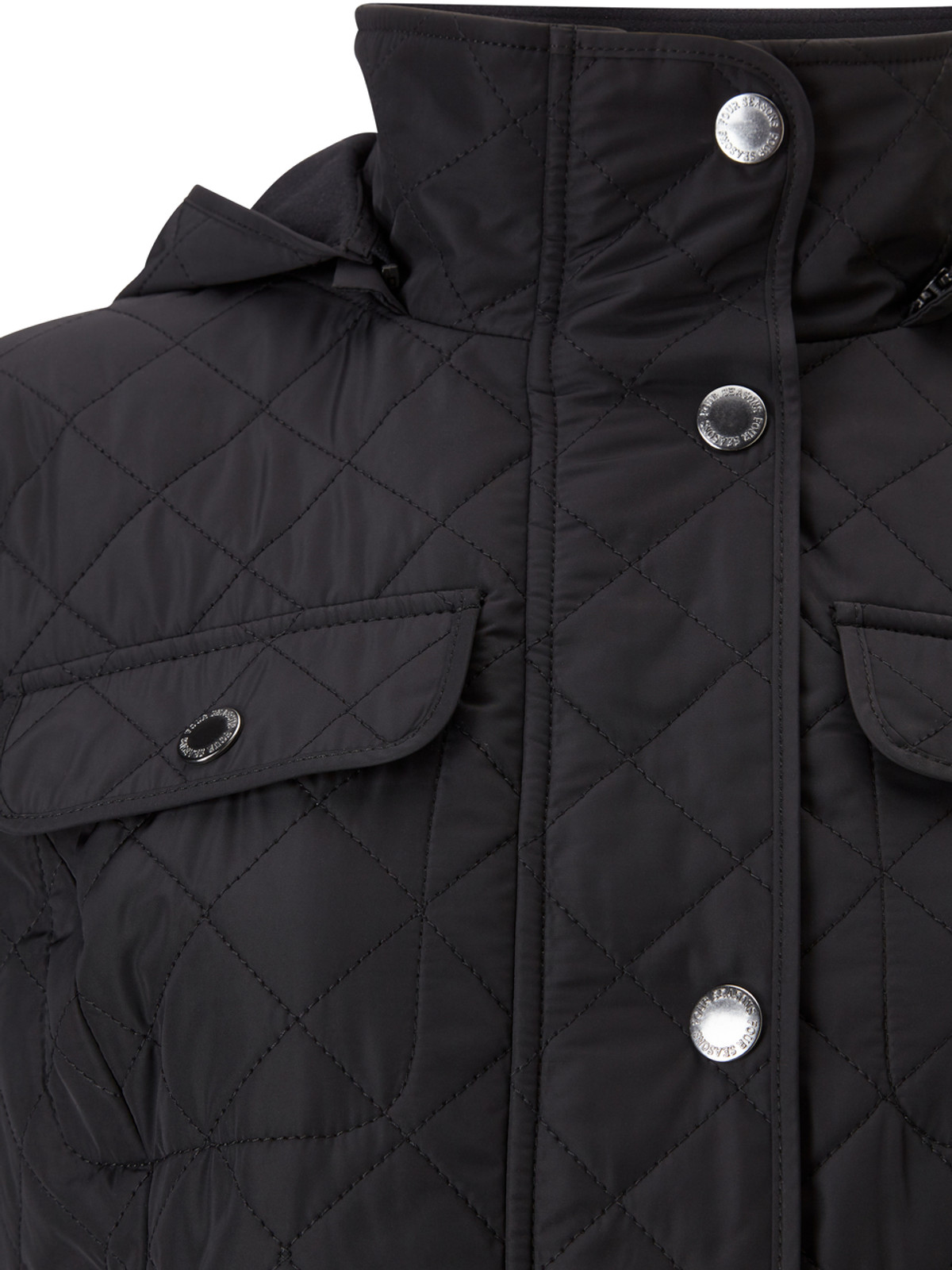 Polar Quilt Fleece Jacket, Black