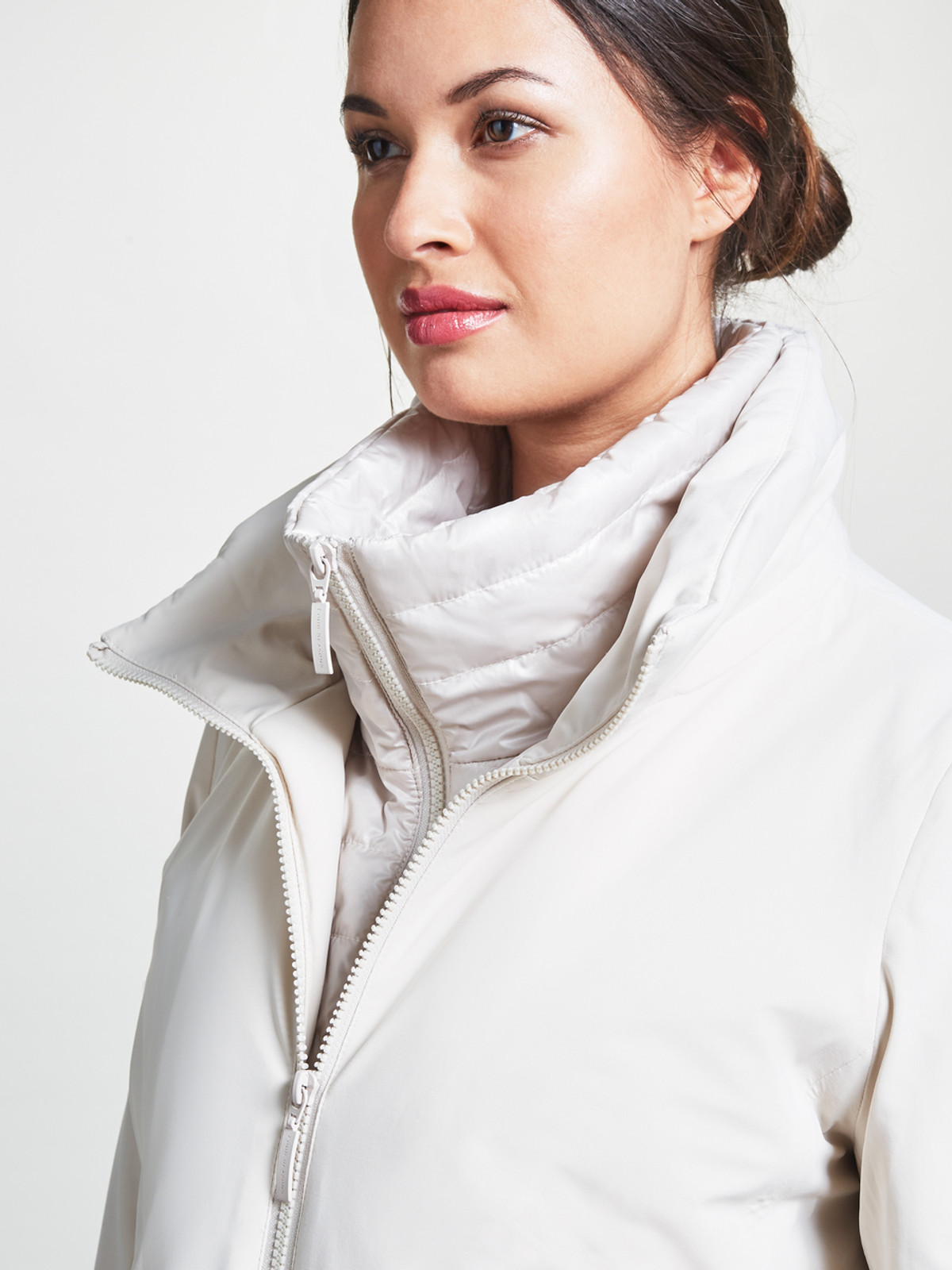 3/4 Length Jacket With Gilet Inner, Pebble
