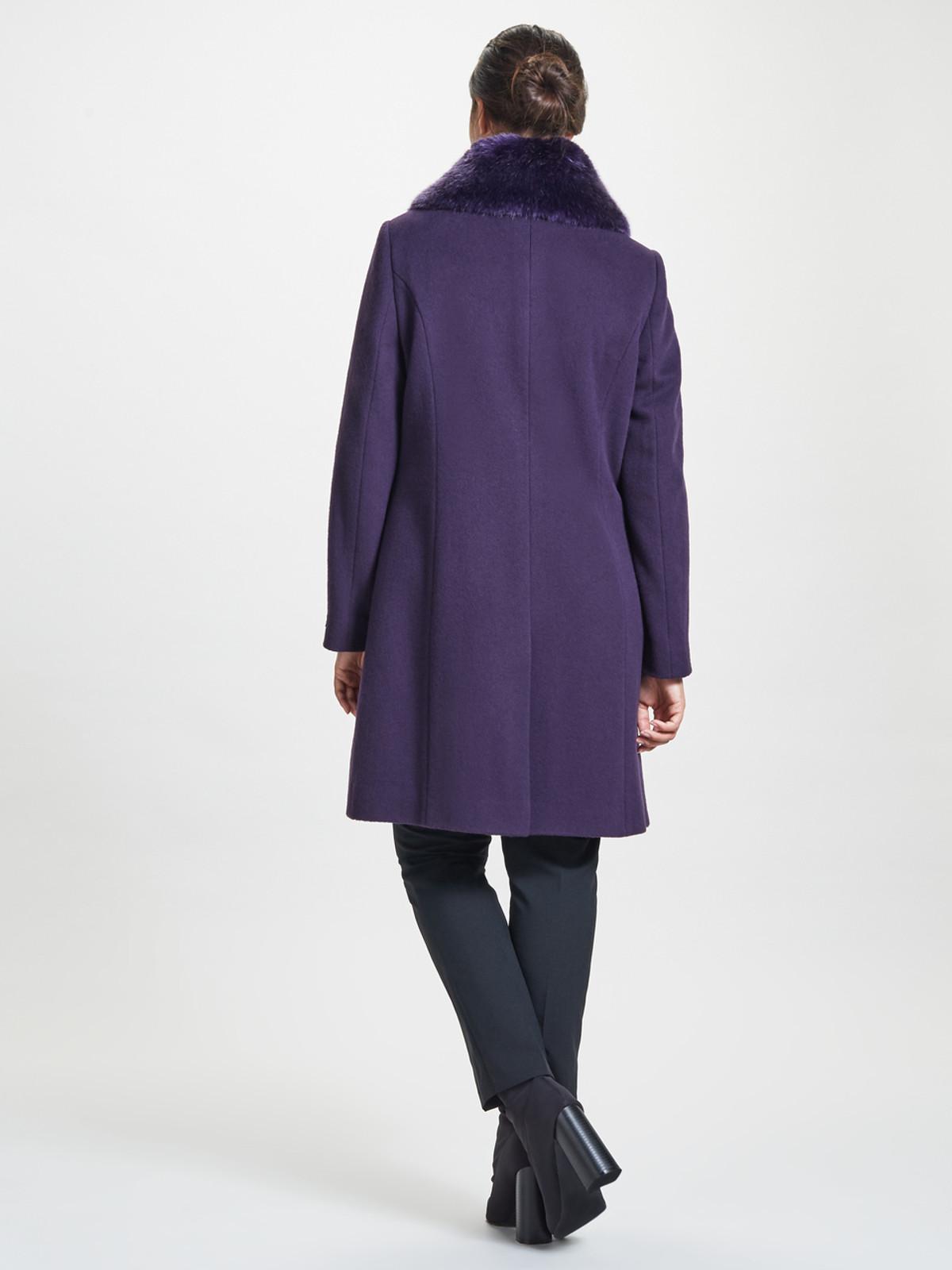 Fur Collar Coat, Purple