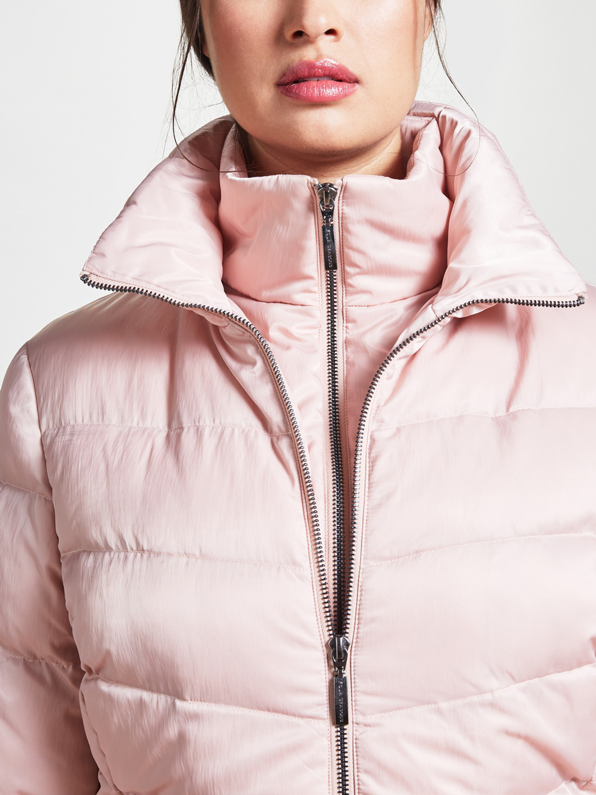 Wadded 3/4 Length Jacket, Rose Gold