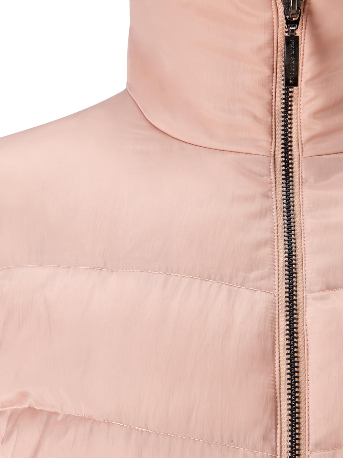 Wadded 3/4 Length Jacket, Rose Gold