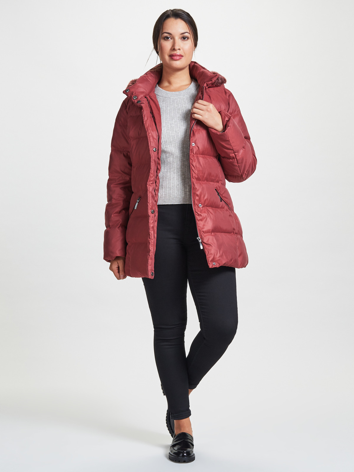 Puffa Jacket, Berry