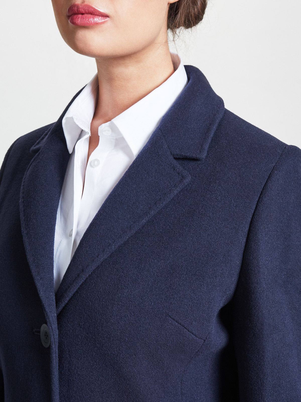 Top Stitch City Coat, Navy