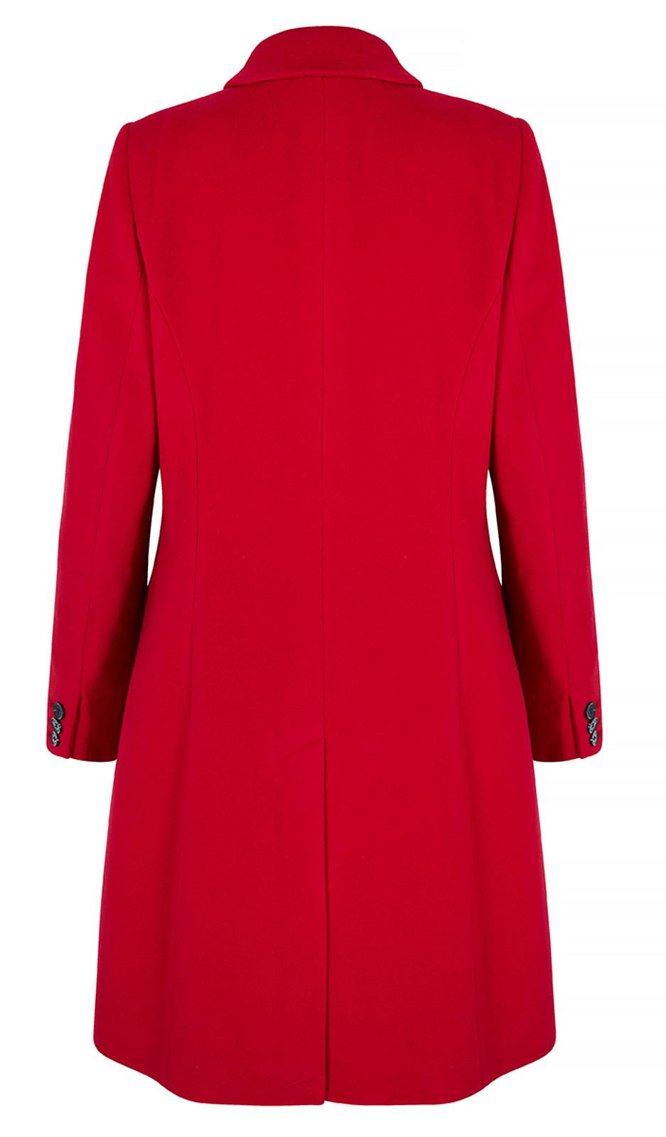 Top Stitch City Coat, Red