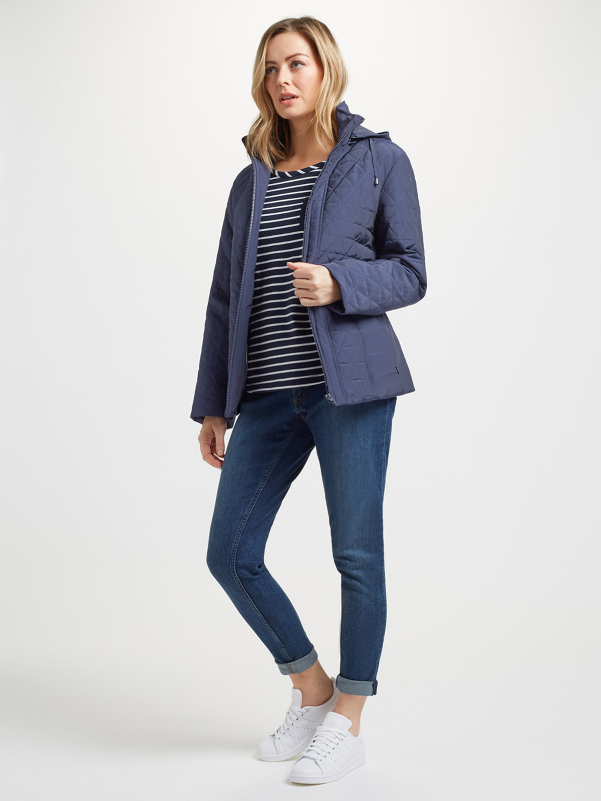Quilt Jacket, Navy