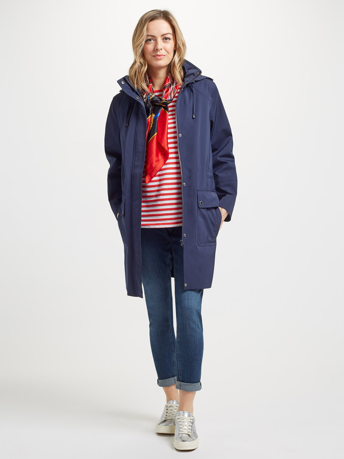 CAMBER – Long Performance Jacket, Navy