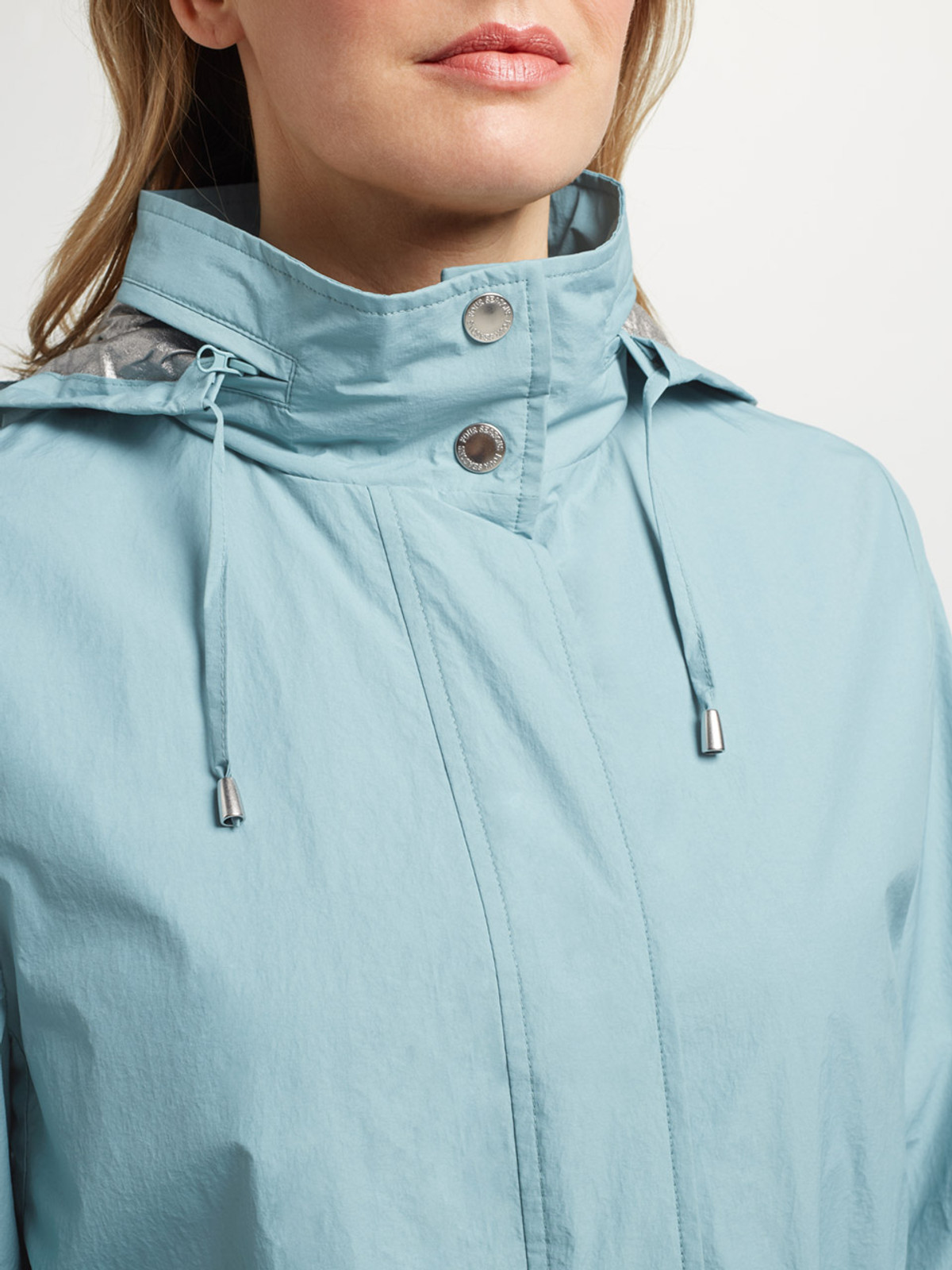 ST LEONARDS – Two Tone Parka, Kingfisher