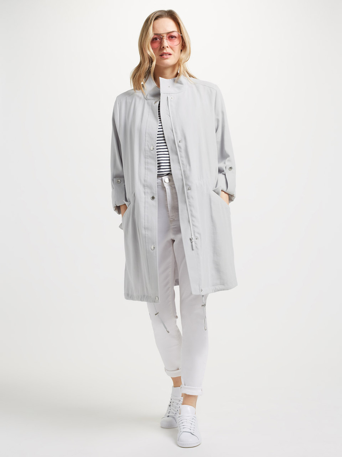 FRANT – Unlined Tencel Parka, Soft Grey
