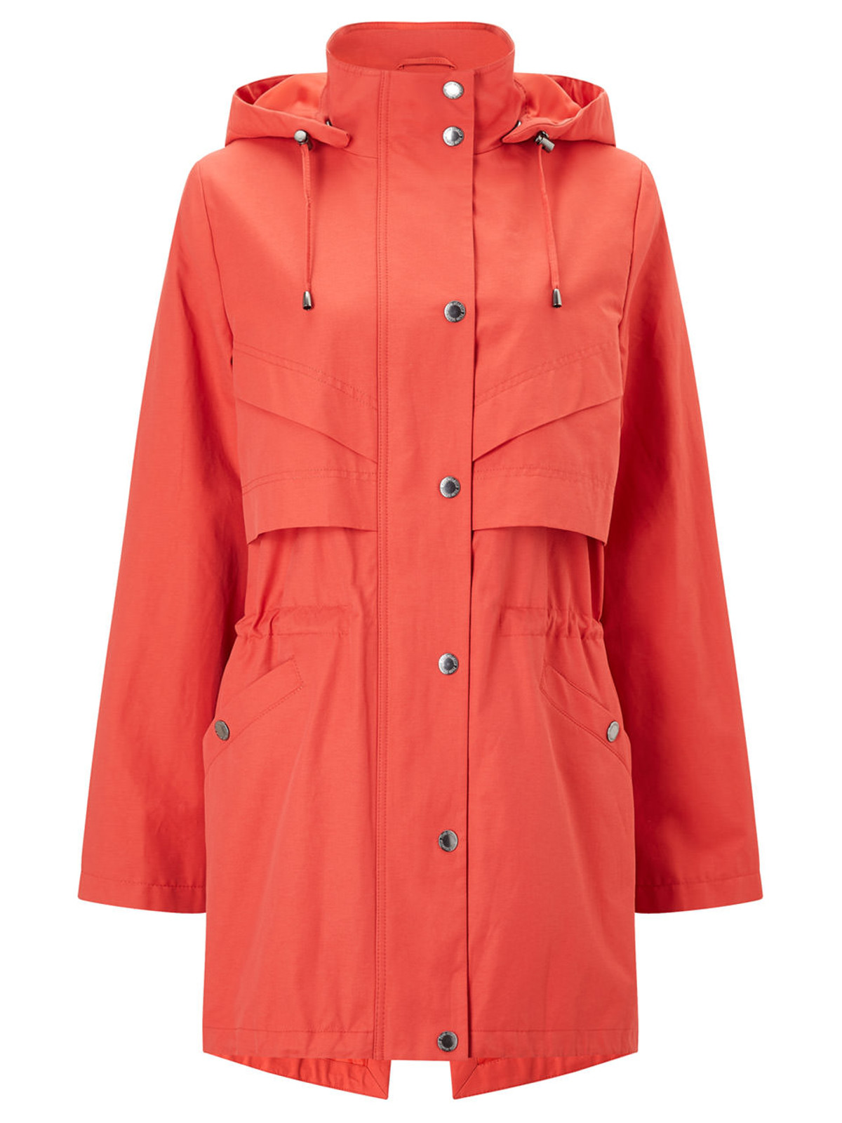 FIRLE – Longerline Jacket with Waist Detail, Red