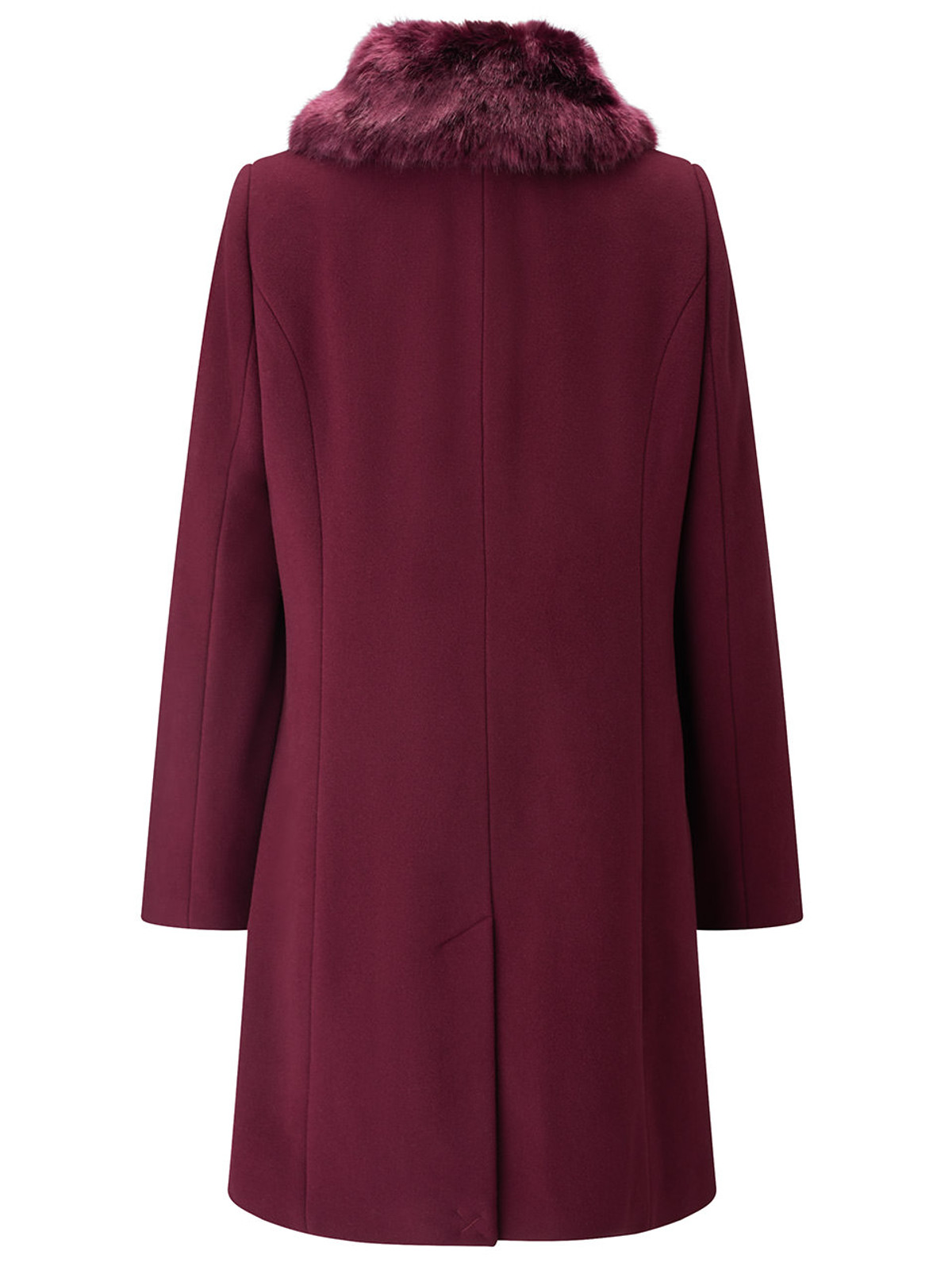 Fur Collar Coat, Berry