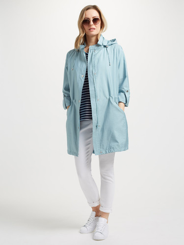 Lightweight Hooded Parka, Kingfisher