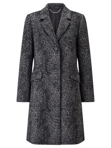 City Coat, Animal Print Grey