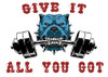 Weight lifting Bull Dog - Give it all you got design created by the Twin Wranglers