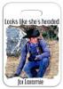 Robert Fuller Luggage Tag- Jess Tracks-Looks like she's headed for Laramie
