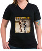 Robert Fuller ladies cotton V-neck t-shirt - Laramie Street - Black shirt
