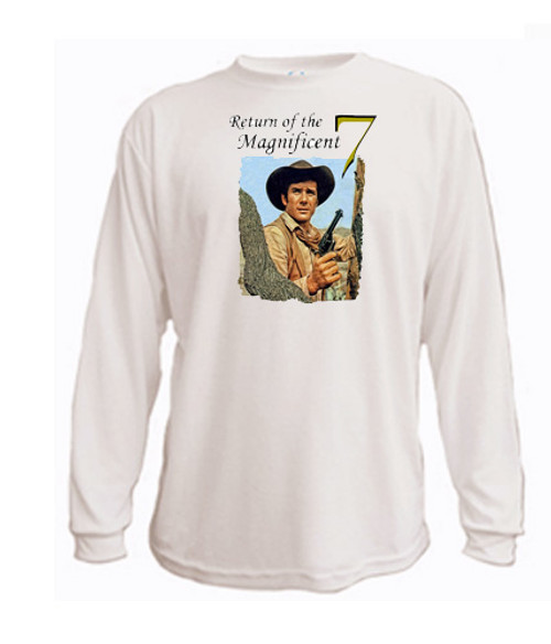 Robert Fuller in Return of the Magnificent 7 - Long Sleeved T-shirt