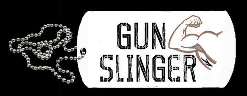Muscle Man - Gun Slinger Dog Tag