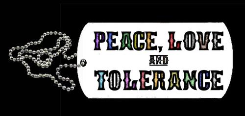 LGBTQ Dog Tag - Peace, Love & Tolerance
