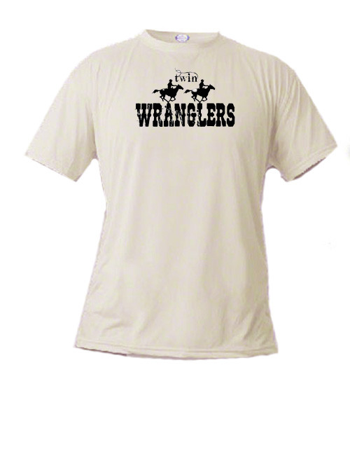 Twin Wranglers basic short sleeved T-shirt