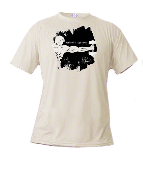 Athletic T-shirt - Weight Lifting - #giveitallyougot