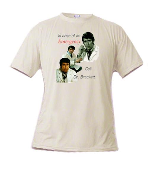Robert Fuller T-shirt - Emergency - Call Dr. Brackett