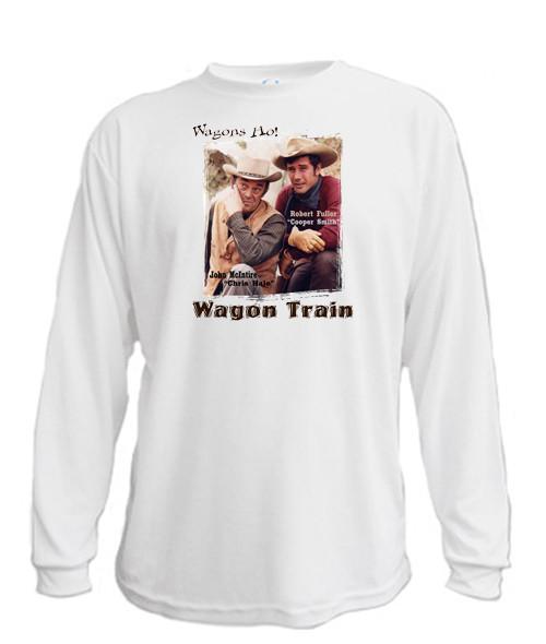 Wagon Train - Wagons Ho - Long sleeved T-shirt