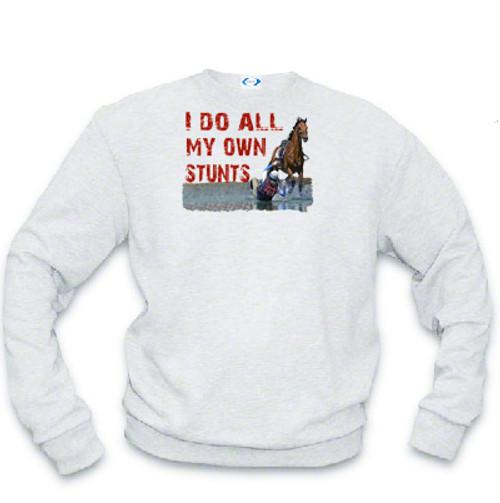 I Do My Own Stunts Sweatshirt-English