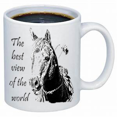 Between A Horse's Ears Mug-front