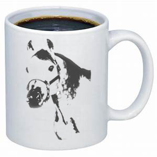 Ghost Horse Stock Type coffee mug