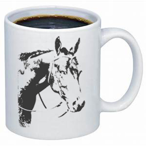 Ghost Horse Western coffee mug