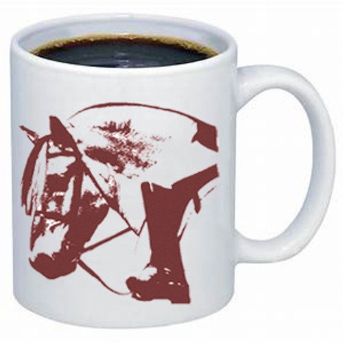 Ghost Horse Norwegian Fjord coffee mug