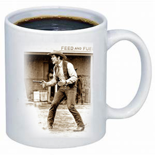 Robert Fuller-Wagon Train Coop-Mighty Sorry coffee mug