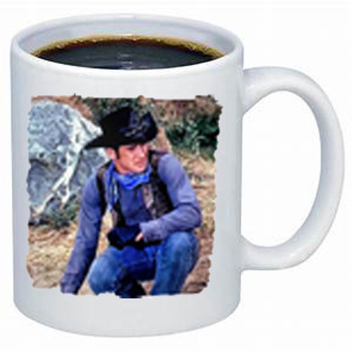 Robert Fuller Laramie-Looks Like He's/She's Headed for Laramie coffee mug