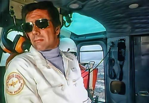 Robert Fuller refrigerator magnet-Dr. Brackett in Helicopter