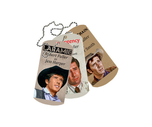 Robert Fuller Dog Tags - Wagon Train, Laramie, and Emergency