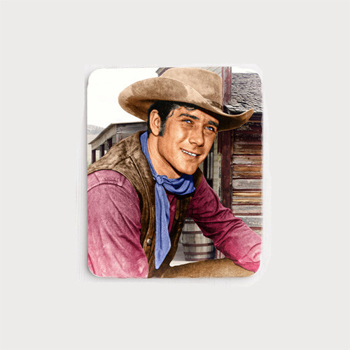 Robert Fuller Mouse Pad - Cooper Smith of Wagon Train in town