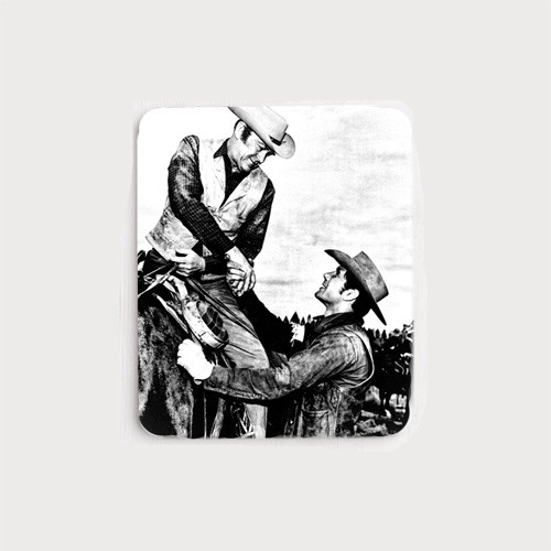 Robert Fuller Mouse Pad - Coop and Chris Hale of Wagon Train